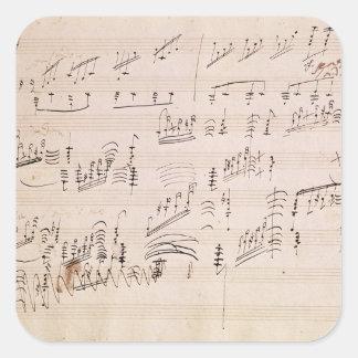 Score sheet of 'Moonlight Sonata' Square Sticker