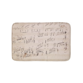Score sheet of 'Moonlight Sonata' Bath Mats