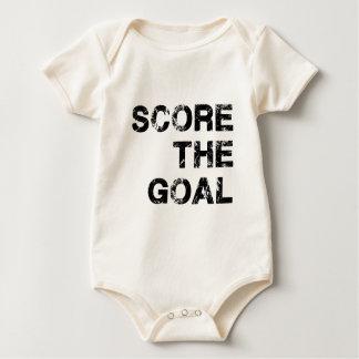 Score the Goal Apparel White Baby Bodysuit