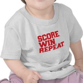 Score Win Repeat Tshirts