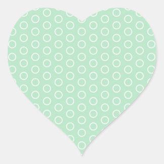 scored polka dots dab samples circles spots heart sticker