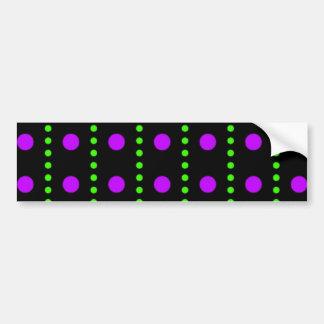 scored polka dots dabs sample scores bumper sticker
