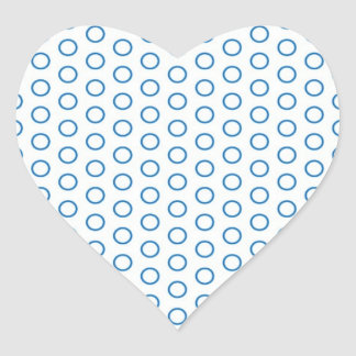 scored small dots sweet pünktchen dots heart sticker