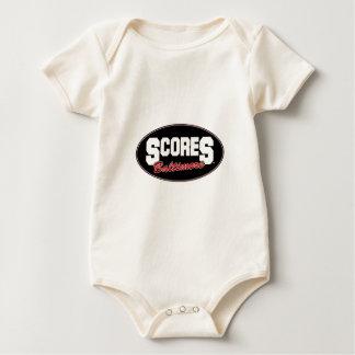scores round logo baby creeper