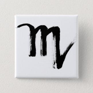 Scorpio 15 Cm Square Badge