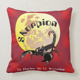 Scorpio 24 October until 22 November cushions