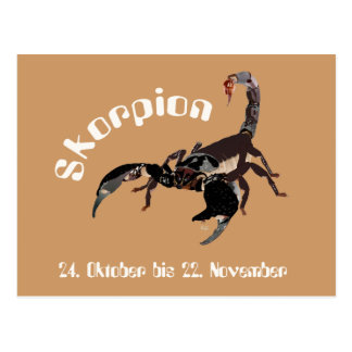 Scorpio 24 October until 22 November postcard