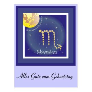 Scorpio 24 October until 22 November postcard