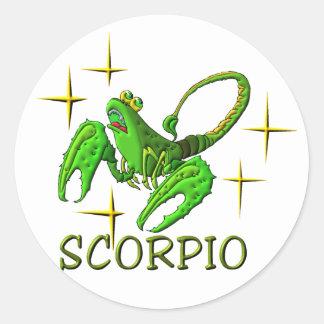 Scorpio 3 (stars) classic round sticker