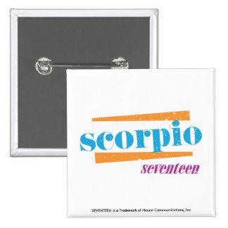 Scorpio Aqua 15 Cm Square Badge