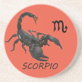 Scorpio astrology beverage coasters