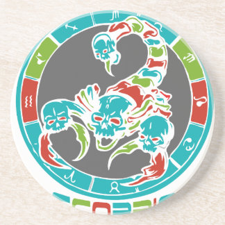 Scorpio Astrology Drink Coasters