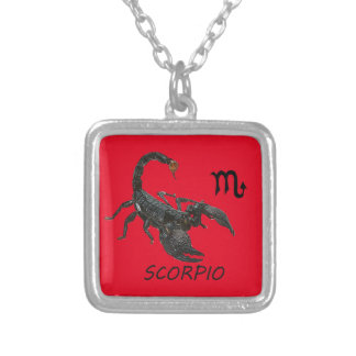 Scorpio astrology silver plated necklace
