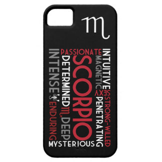 Scorpio Astrology Word Collage iPhone 5 Case