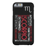 Scorpio Astrology Word Collage iPhone 6 case Barely There iPhone 6 Case