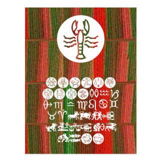 SCORPIO Astrology Zodiac Symbol Postcard