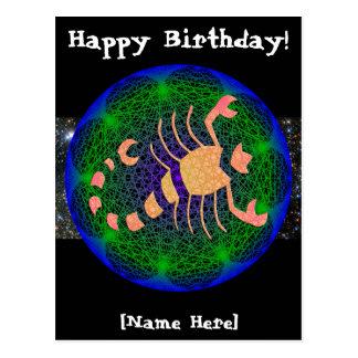 Scorpio Birthday Postcard