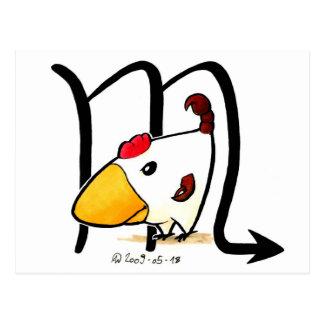 Scorpio Chicken Postcard