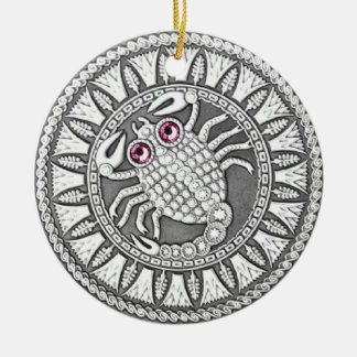 Scorpio Coin ceramic ornament