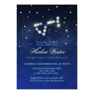 Scorpio Constellation Birthday Party Card
