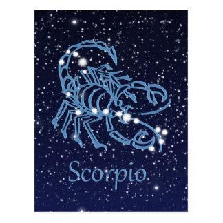 Scorpio Constellation & Zodiac Sign with Stars Postcard