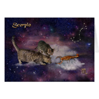 Scorpio for Cat Lovers Greeting Card