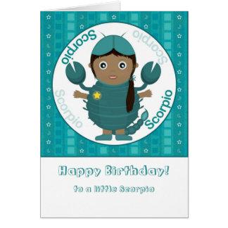 Scorpio Girl - Happy Birthday Card