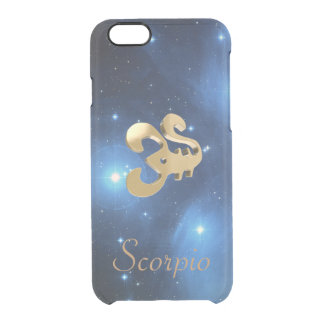 Scorpio golden sign clear iPhone 6/6S case