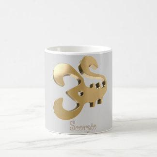 Scorpio golden sign coffee mug