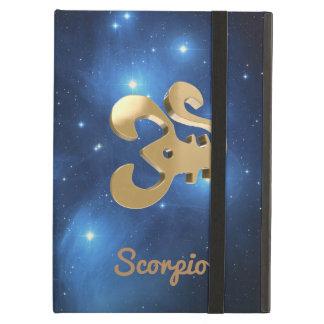 Scorpio golden sign iPad air cases
