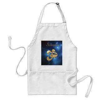 Scorpio golden sign standard apron