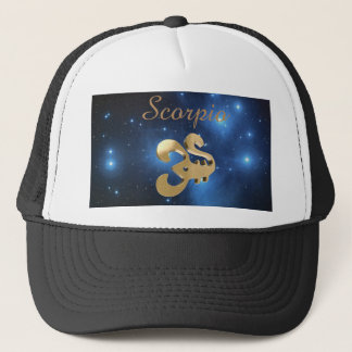 Scorpio golden sign trucker hat