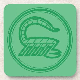 Scorpio Green Coaster