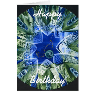 Scorpio, Happy, Birthday Card