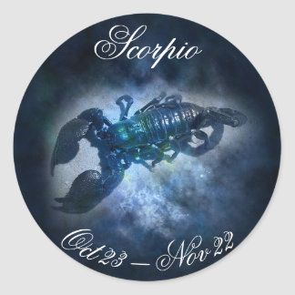 Scorpio Horoscope Zodiac Astrology Sign Sticker