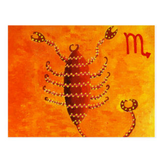 Scorpio Horoscope Zodiac Star Sign Postcard