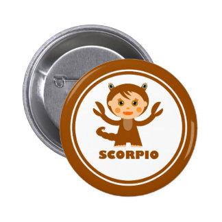 Scorpio is my Zodiac Sign 6 Cm Round Badge