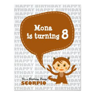 Scorpio Kids Party Invitation