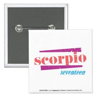 Scorpio LtPink 15 Cm Square Badge