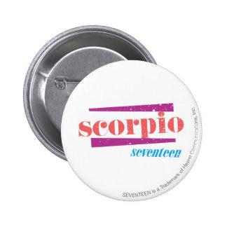 Scorpio LtPink 6 Cm Round Badge