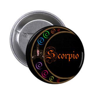 Scorpio Moons 6 Cm Round Badge