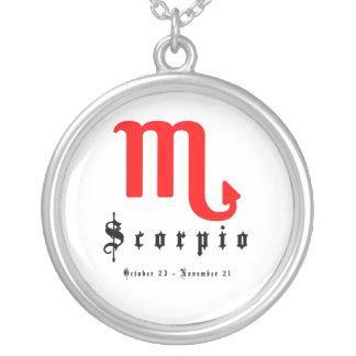 Scorpio, October 23 - November 21 Round Pendant Necklace