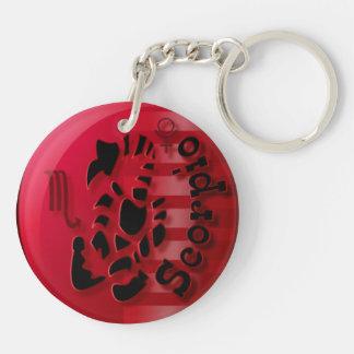 Scorpio-October 24 to November 22 Double-Sided Round Acrylic Keychain