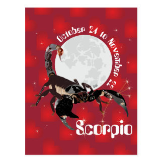 Scorpio October 24 tons November 22 Postcard