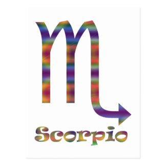 Scorpio Psychedelic Postcard