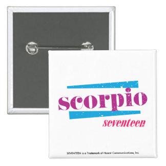 Scorpio Purple 15 Cm Square Badge