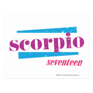 Scorpio Purple Postcard