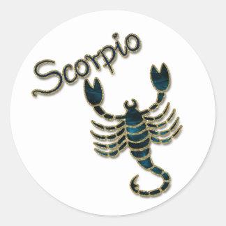 Scorpio Round Sticker