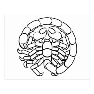 Scorpio Scorpion Astrology Horoscope Zodiac Sign Postcard