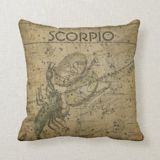 Scorpio Scorpion Libar Constellation Map Pillow
